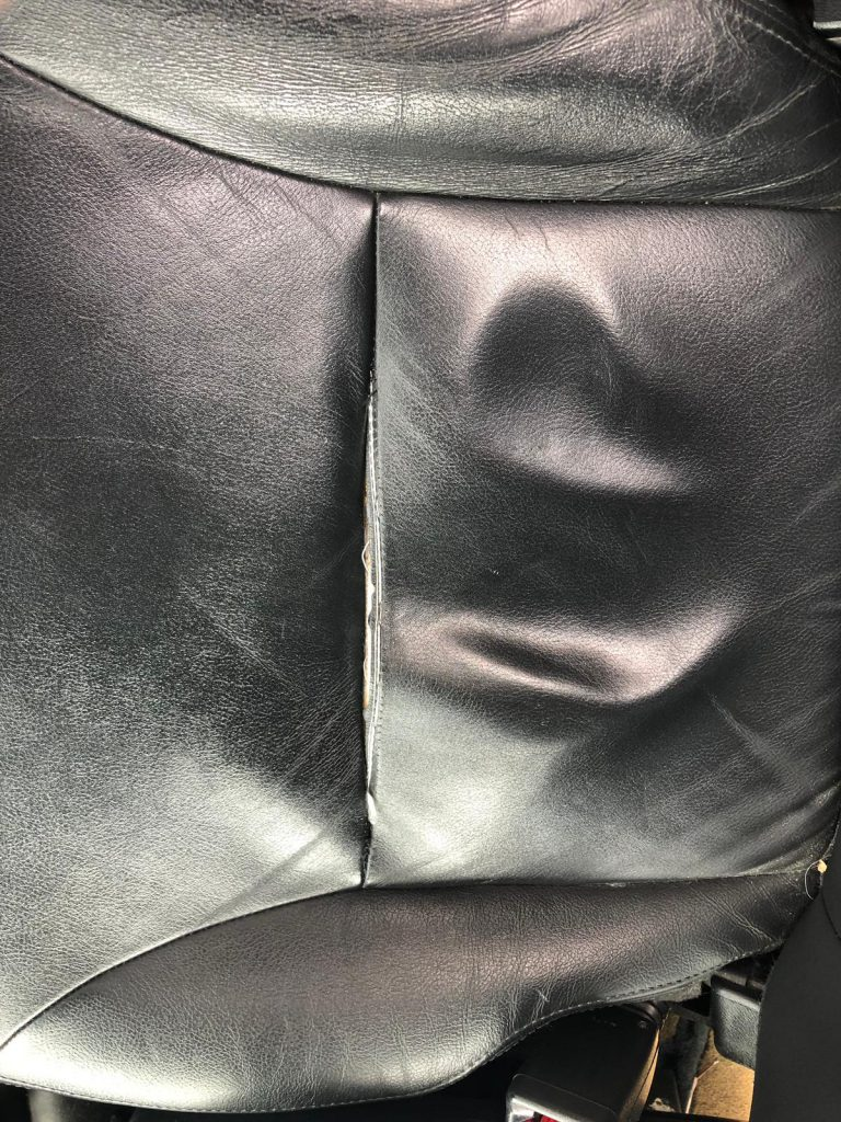 Leather Car Seat Burst Seam