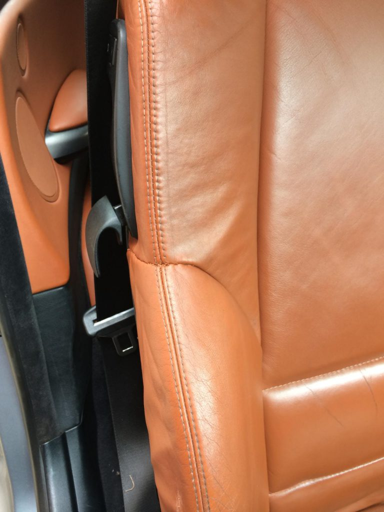 Orange Bolster Burst Seam Repairs