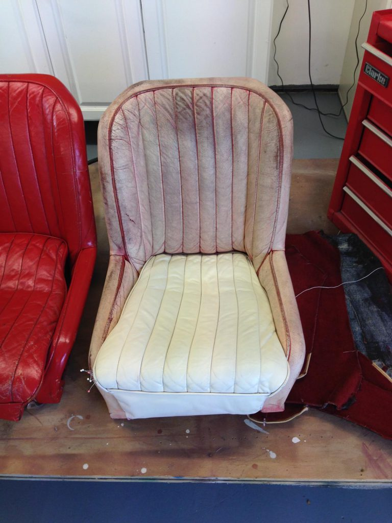 Red Chair To White Colour Change Process