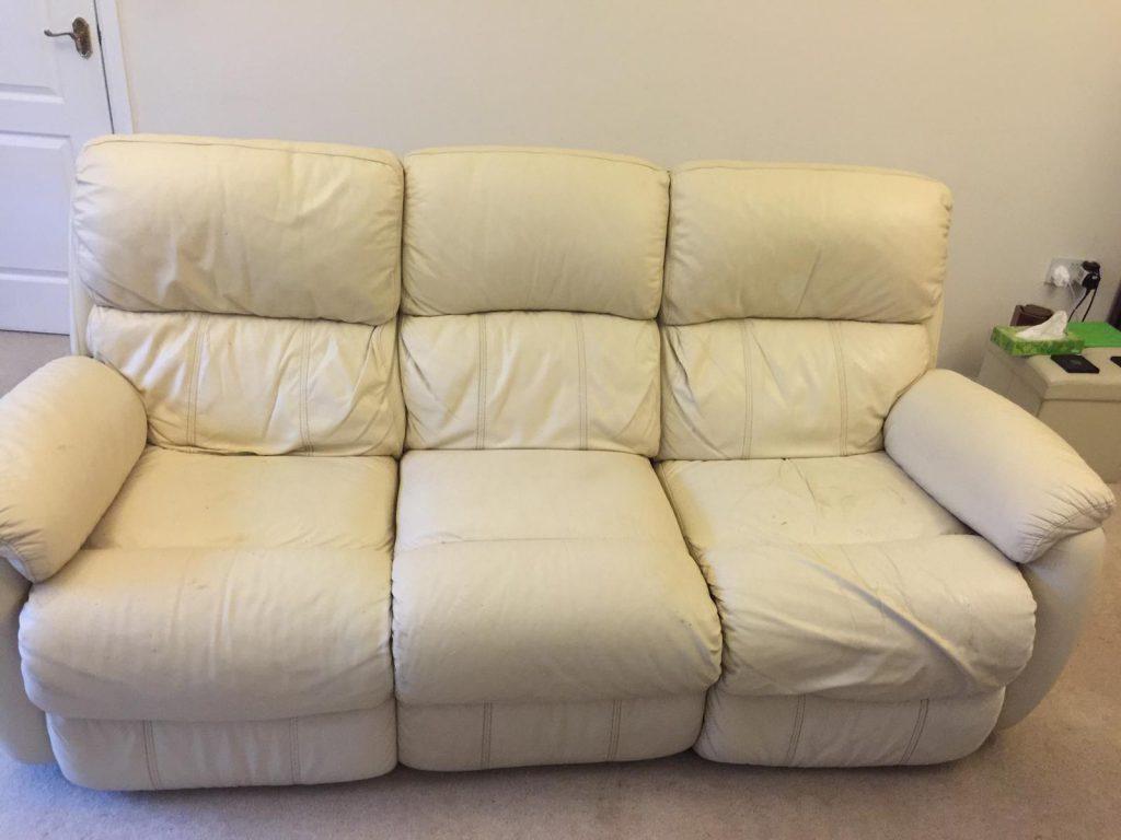 Cream Three Seat Sofa