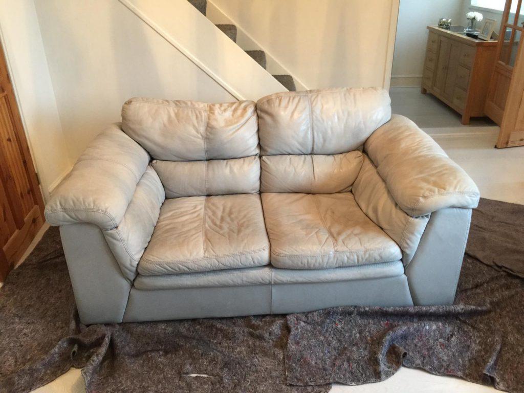White Two Seat Sofa