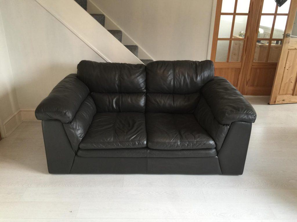 White To Black Two Seat Sofa Colour Change