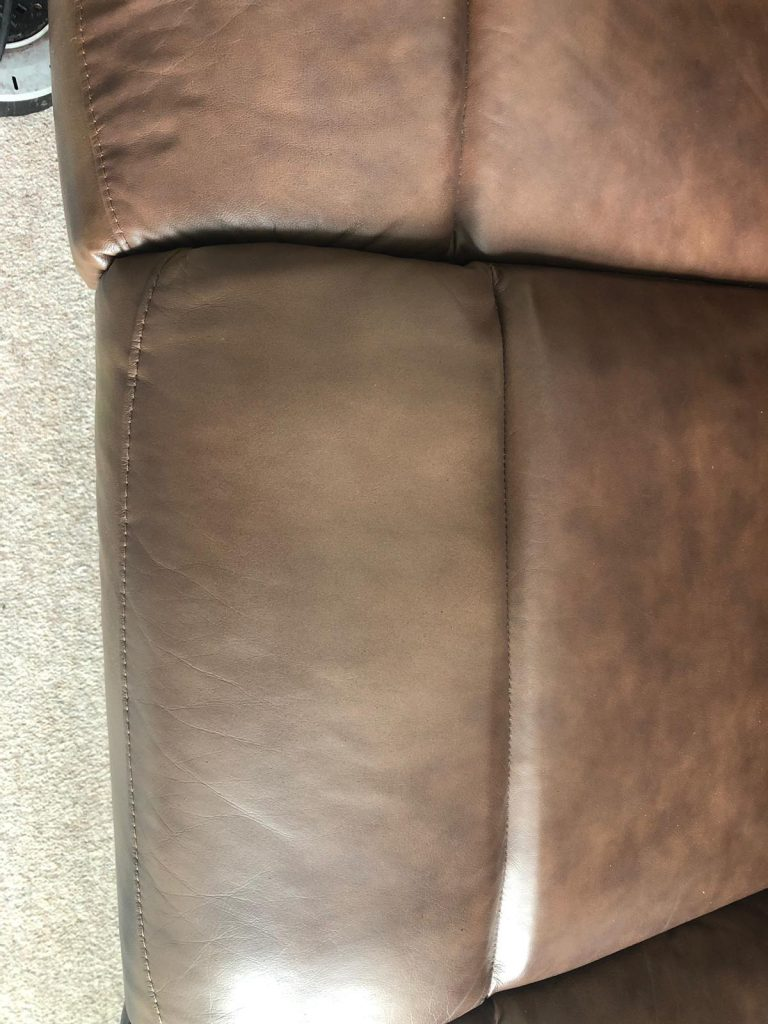 Brown Sofa Colour Loss Restoration