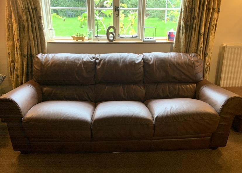 Leather Aniline Sofa Colour Restoration Maidstone