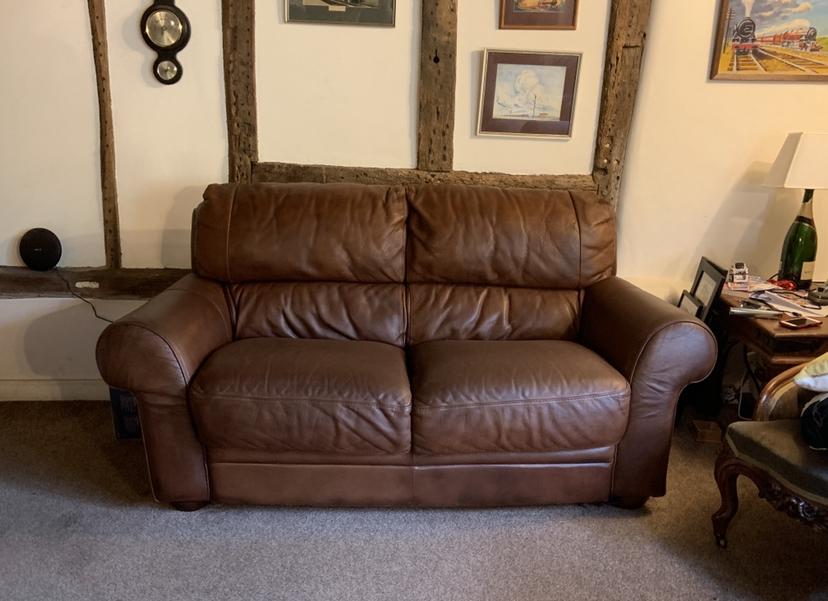 Leather Aniline Sofa Colour Loss Restoration