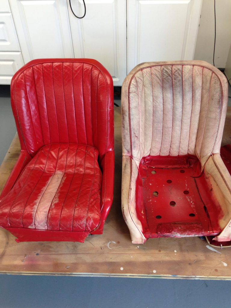 Red To White Leather Colour Change