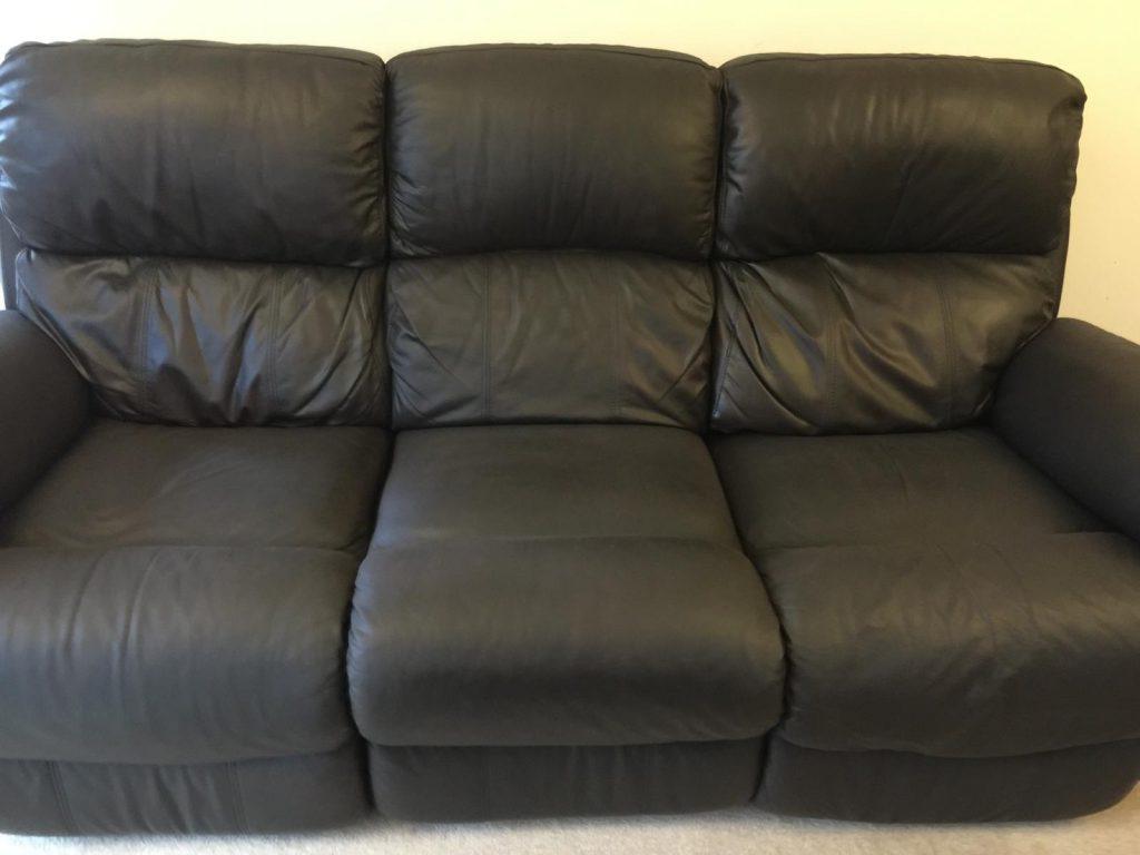 Cream To Black Three Seat Sofa Colour Change