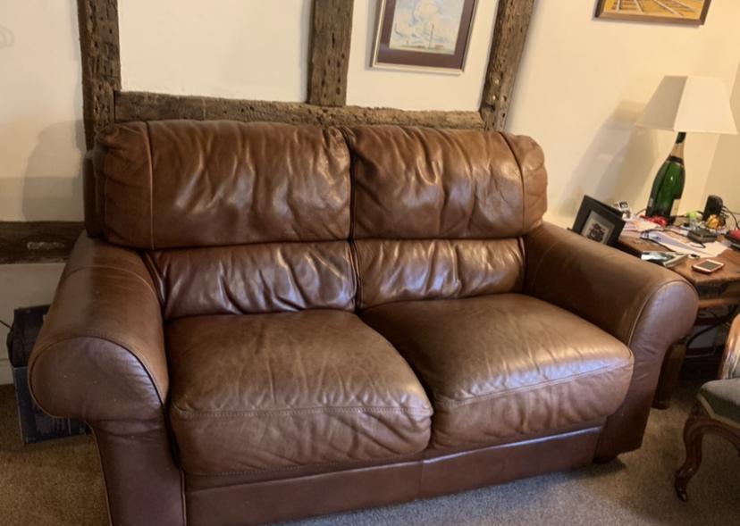 Leather Aniline Sofa Colour Loss