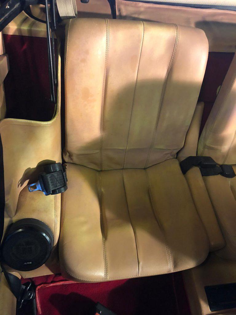 Ferrari Colour Loss Leather Car Seats