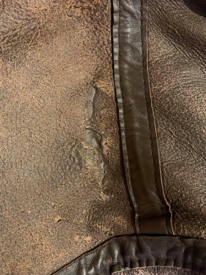 Sheep Skin Jacket Tear