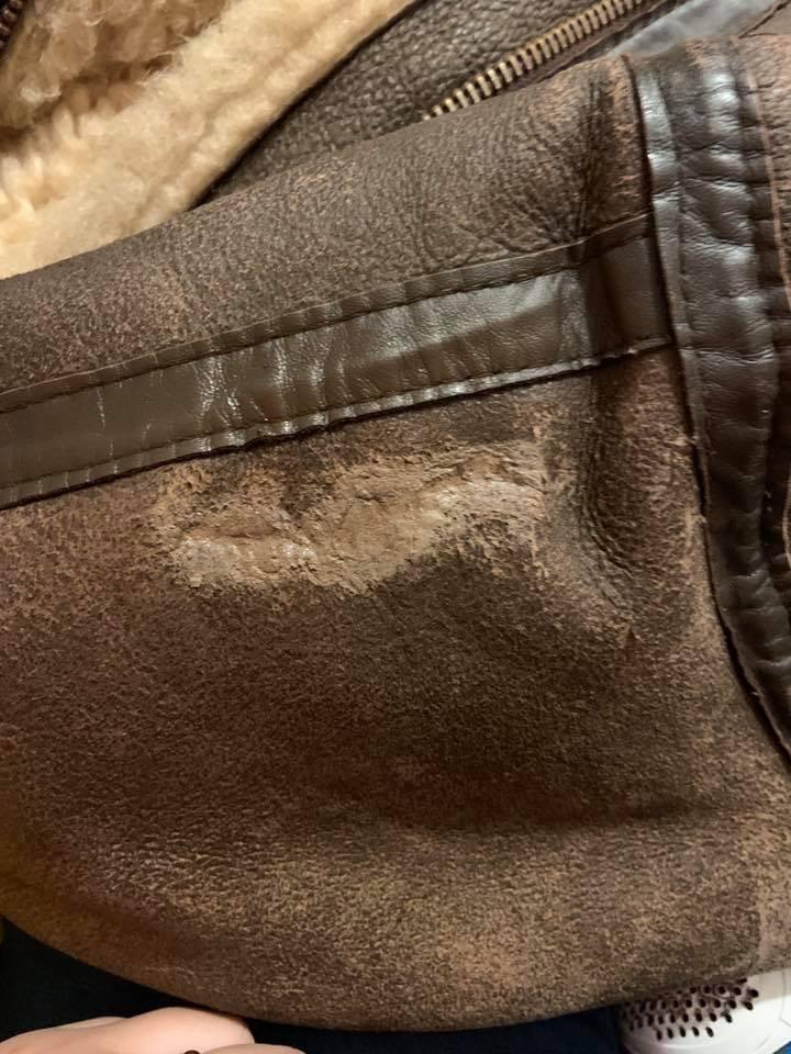 Sheep Skin Jacket Tear Filling