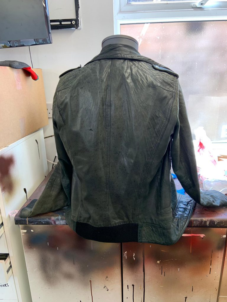 Black Faded Leather Jacket