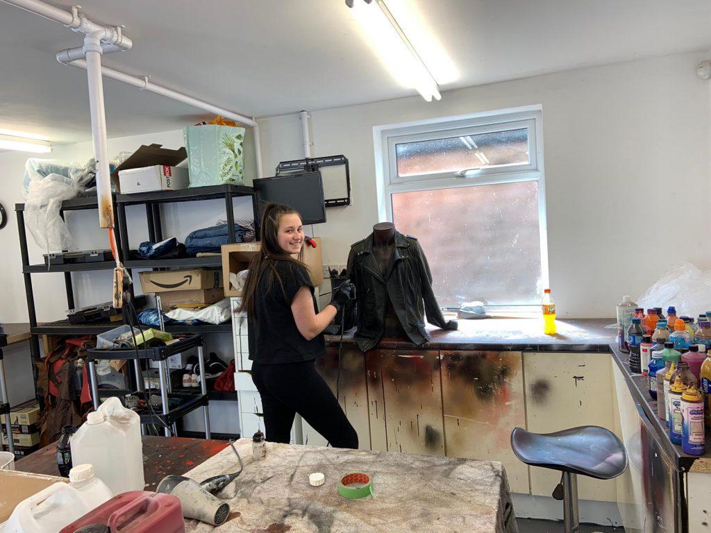 Leather Technician Spraying Jacket