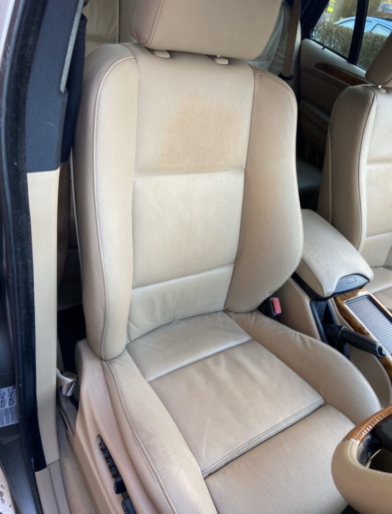 4x4 BMW Stained Leather Car Seats