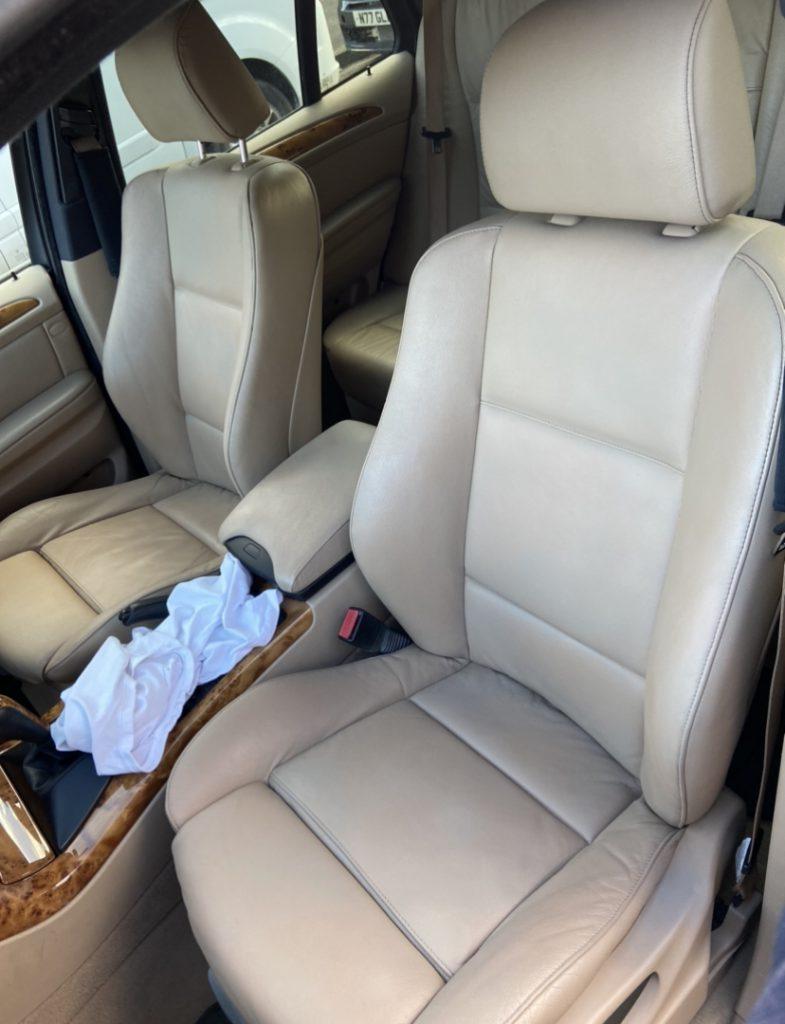 Leather Car Seat Full Colour Restoration