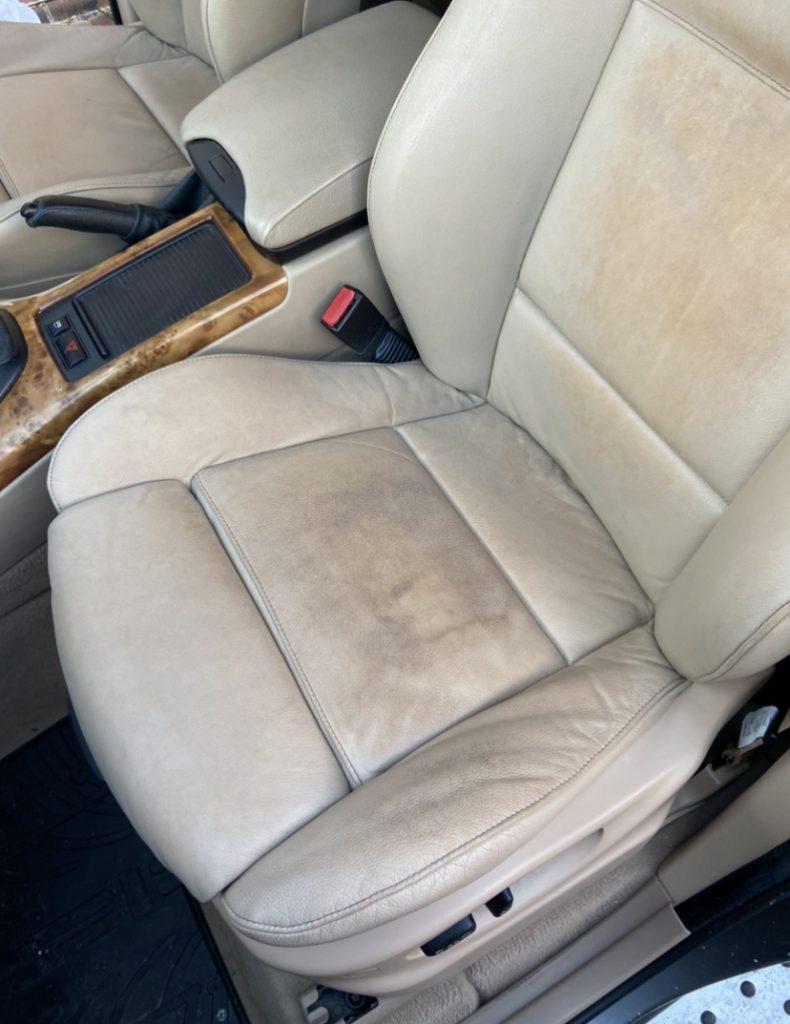 Leather Car Seat Colour Loss