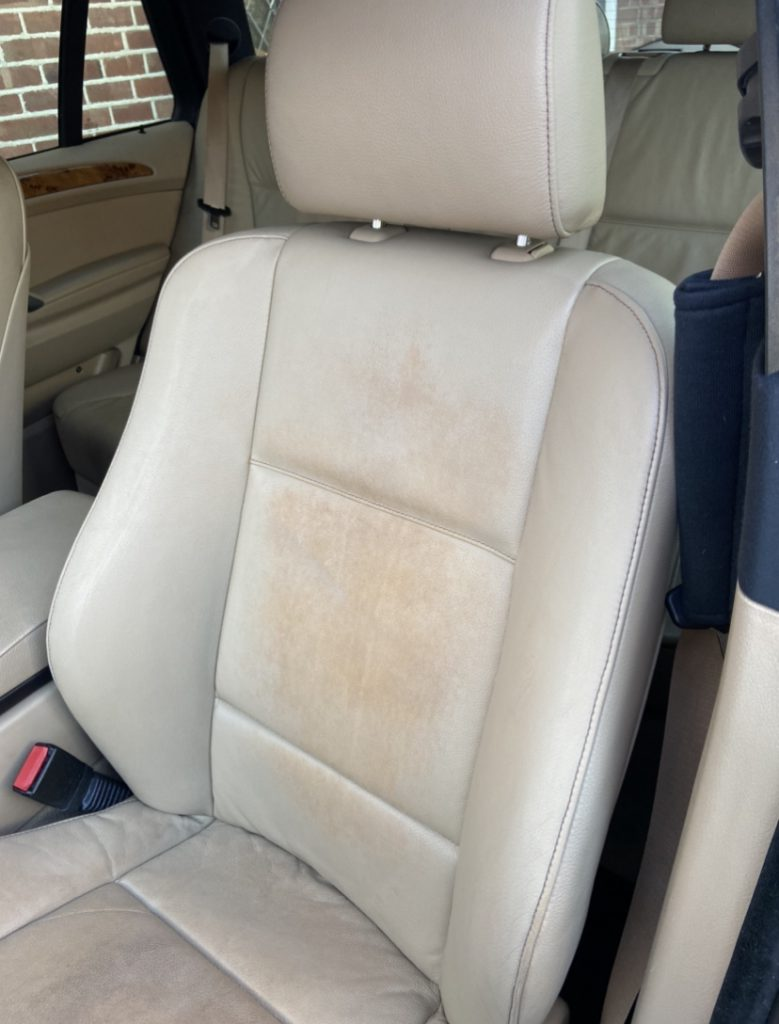 Leather Car Seat Stains