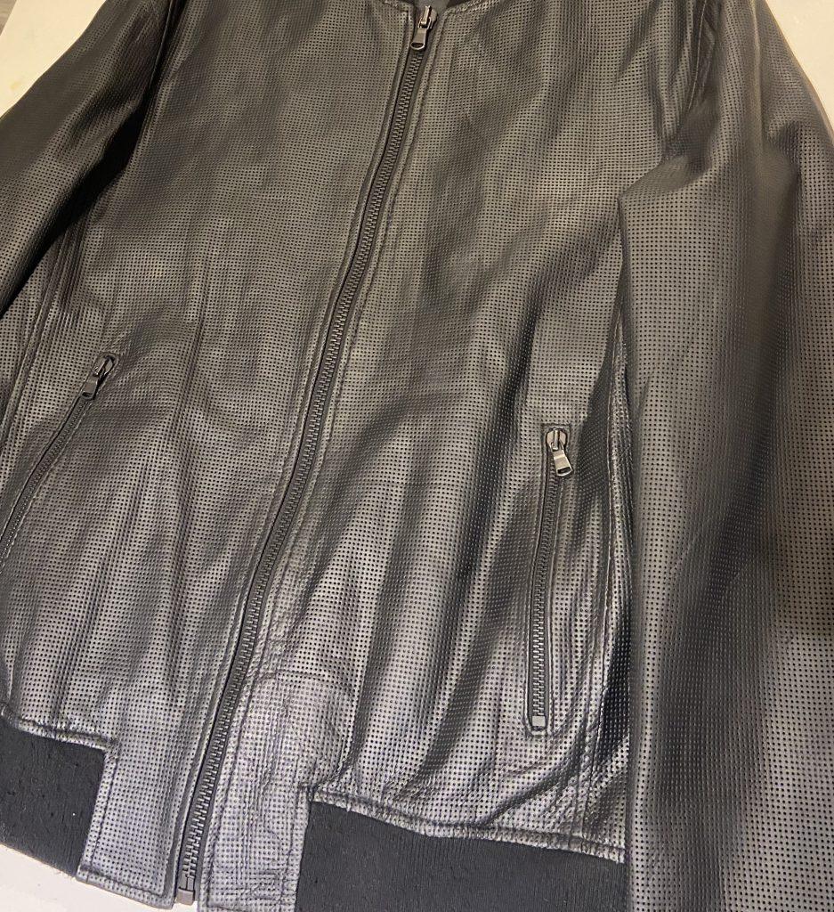Dull Black Leather Jacket Colour Change