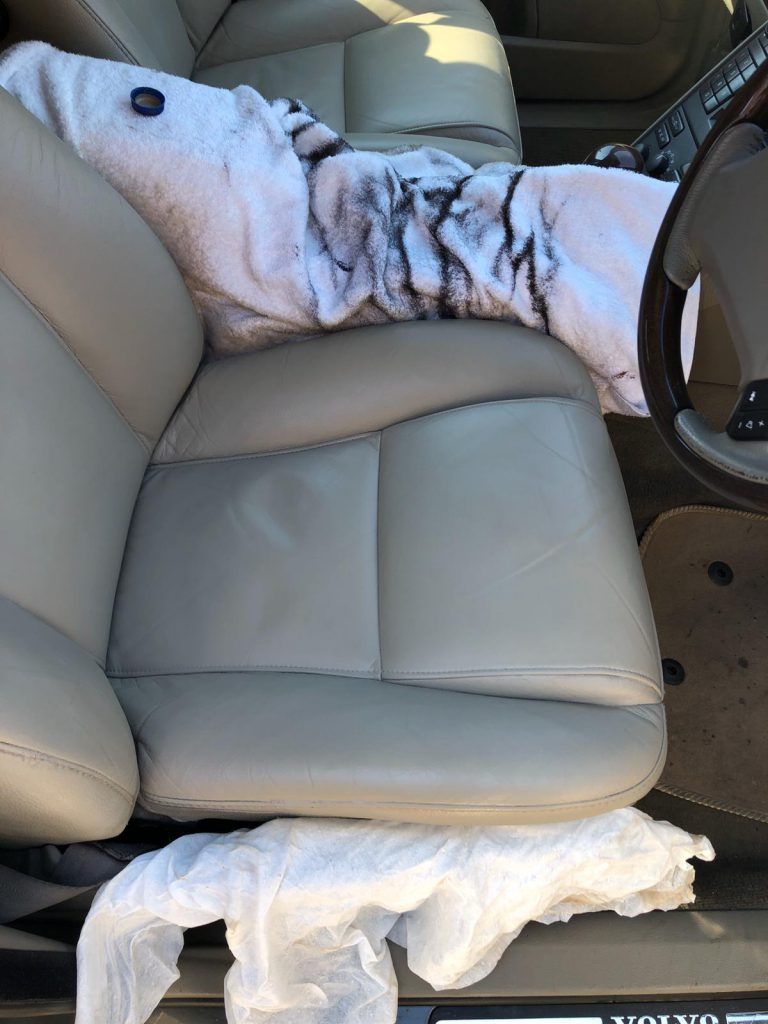 Leather Car Seat Colour Loss Restoration